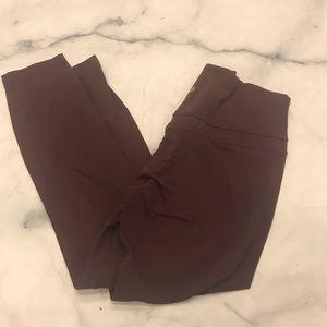 EUC Lululemon Align 7/8 pants 12 burgundy maroon